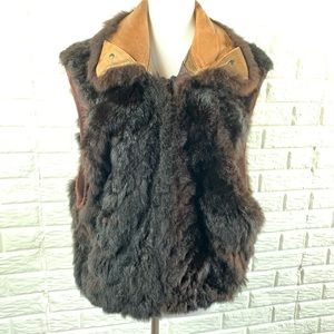 Vintage New Zealand real Fur vest